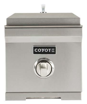 Coyote 11-Inch Built-in Single Side Burner, Propane Gas