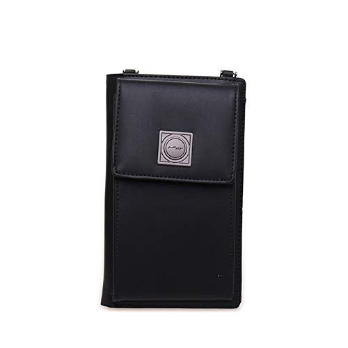 Card Purse Slots Kukoo for Small 1 Credit Wallet Phone Black Bag Cell Crossbody Women with wwAXaqvZzx