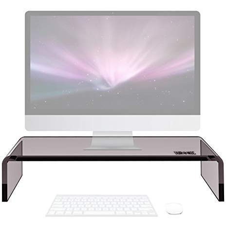Duronic Monitor Stand DM054 | Screen Riser for Desktop | Black Acrylic | Support for a Laptop, TV Screen or PC Computer Monitor Screen | 30kg Capacity | 50cm x 20cm | for Home, Office or Classroom
