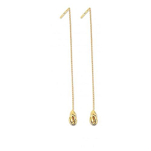 DIAMANTLY Boucles d'oreilles or 750 noeud antillais 6 mm