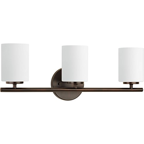 Progress Lighting P2159-20 Contemporary/Soft 3-100W Med Bath Bracket, Antique Bronze