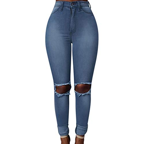Womens Kardashian Butt Lift High Waisted Skinny Plus Size Pocket Hole Jeans