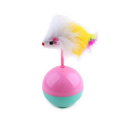 TOOGOO Dauerhaft Haustier Katze Spielzeug Mimi Lieblings Fell Maus Becher Plastikspielzeug Baelle fuer Katzen Hunde…