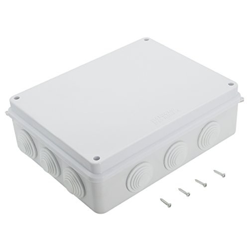 LeMotech ABS Plastic Dustproof Waterproof IP65 Junction Box Universal Electrical Project Enclosure White 10