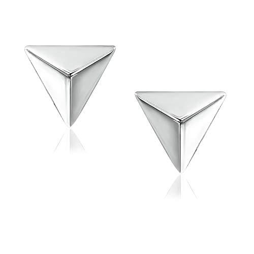 River Island Sterling Silver Mini Triangle Shape Stud Earrings