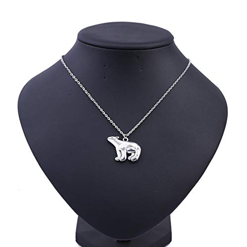 Tgirls Polar Bear Pendant Necklace Chain Silver Animal Necklaces Jewelry for Women and Girls