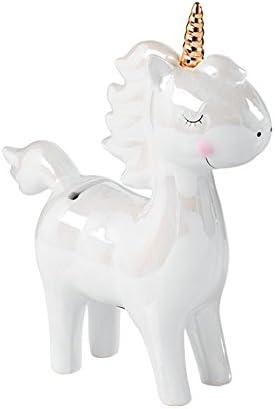 Salvadanaio Unicorno Bianco