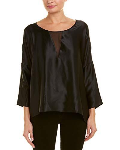 Gold Hawk Womens Satin Silk Top, Xs, Black