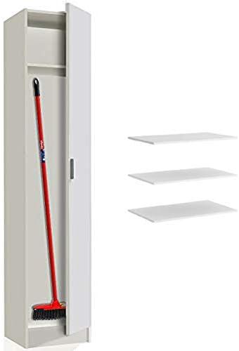 HABITMOBEL Armario Dormitorio Multiusos, 1 Puerta Blanco, (estantes adicionales incluidos): Amazon.es: Hogar