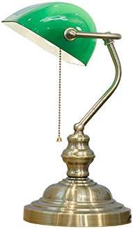 QEQ Antigua lámpara de Escritorio Tradicional de Bronce para ...