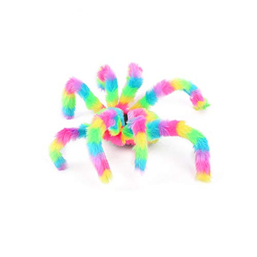Choosebuy Cartoon Spider Plush Prop, Soft Animal Doll Interactive Dress up Stuffed Toys Halloween Christmas Party Gift -