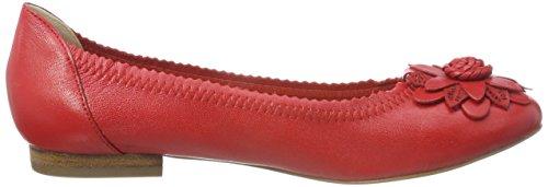 Mujer Para 22103 Caprice Rojo 501 red Bailarinas Nappa tBwtqS8n