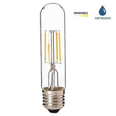 LED2020 LED T10 Dimmable Filament Bulb, 4.5W to Replace 60W Incandescent Bulbs