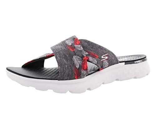 Skechers Performance Women's On The Go 400 Tropical Flip Flop, Gray Tropical, 9 M US 14667