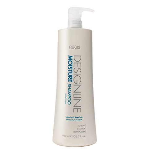 Moisture Shampoo, 32.5 oz - Regis DESIGNLINE - Sulfate Free Formula Gently Moisturizes and Cleanses Hair to Keep Hair Color Safe and Healthy