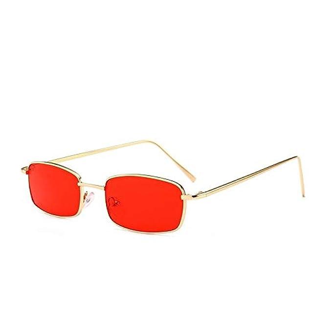 Rettangolo Di Uomo Ad Uv400 Donna Piccola Lusso Sole Skinny Qualità Moda Da Piazza Rosso Sun Glassesses Vintage Alta Occhiali Colorato Cool