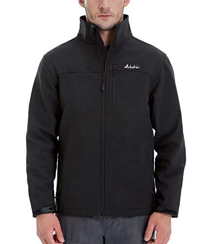 - Clothin Men's Softshell Jacket Windproof Front-Zip Fleece-Lined Ski Insulated Coat(Black M)