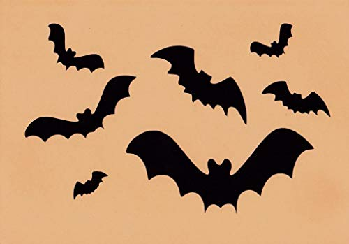 OutletBestSelling Halloween Stencil Bats Large and Small Assorted Paint on Fabric, Pumpins, Wood]()