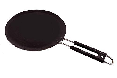 Modern Era Flat Iron dosa, roti, chapati tawa with Handle 24 cm  Black