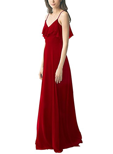 Shoulder Dress Spaghetti Red Off Wedding Straps Amore Dress Bridesmaid Women's Bridal YwfqxXt