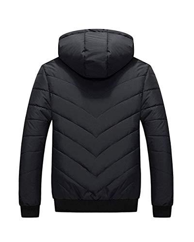 Invernale Cappotto Degli Giacca Uomini Calda Con Capospalla Di Cappuccio Schwarz Cotone All'aperto Abbigliamento wXTpYxq