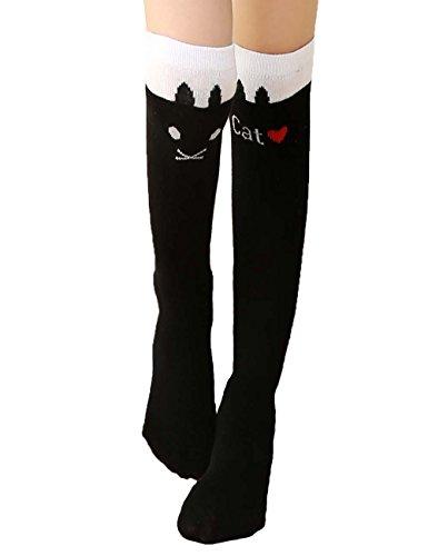 Kids Socks Girls' School Uniform Knee High Socks FS Black (Show Girl Outfits)