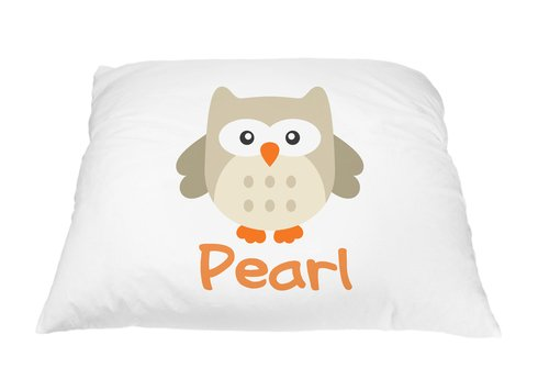 - Personalized Kid's Owl Pillowcase Microfiber Polyester Standard 20 by 30 Inches, Owl Pillow Cover, Owl Décor for Girls Room, Gifts with Owls, Personalized Gifts for Kids, Gifts for Owl Lovers