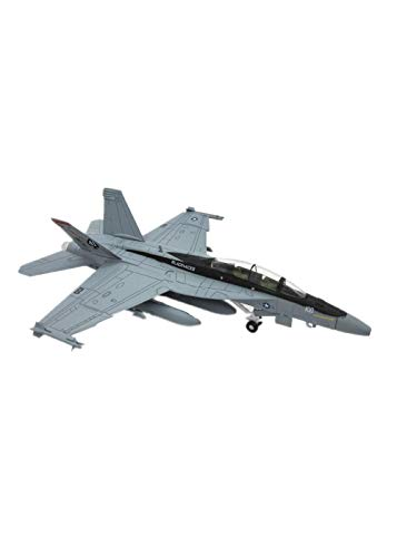 (1:100 Scale Military Model Boeing F-18 Hornet Strike Fighter Plane Aircraft Model Toy for Commemorate Collection Gift Home Office Decoration)
