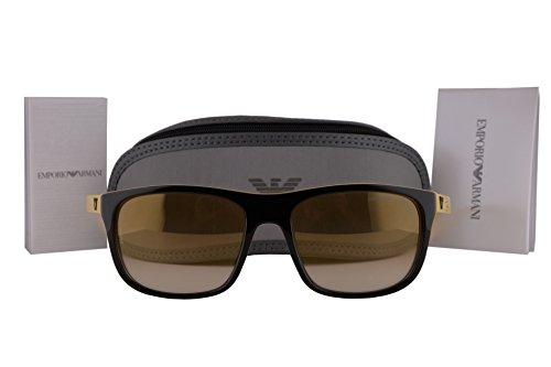 Emporio Armani EA4085 Sunglasses Top Brown On Yellow w/Light Brown Mirror Lens 55556E EA - Sale On Armani