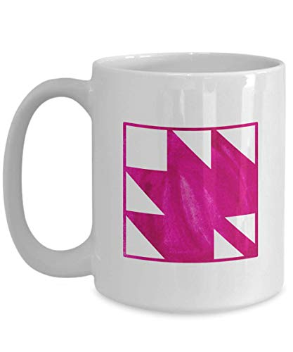 Maple Leaf Quilting Block Coffee Mug Gift - Quilt Gift for Quilter ()