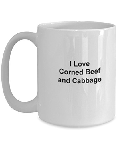 (Irish Coffee Mug Corned Beef Cabbage Tea food proverbs personalize endurance birthday anniversary Christmas gift St. Patricks Paddy 15 oz)