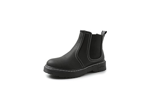 LL STUDIO Womens' Simple Style Comfort Black PU Boots Shoes 9.5 B(M) US