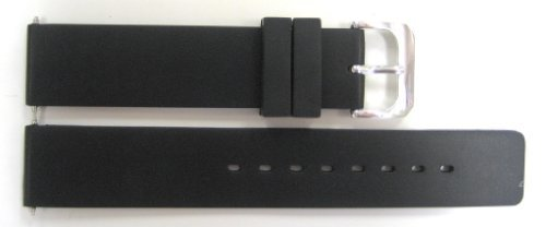 Speidel 18mm Rubber Black Waterproof Watchband Fits Timex (Timex Camper Band)