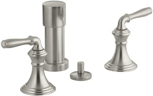 KOHLER K-412-4-BN Devonshire Vertical Spray Bidet Faucet, Vibrant Brushed Nickel (Spray Vertical Bidet Brass)