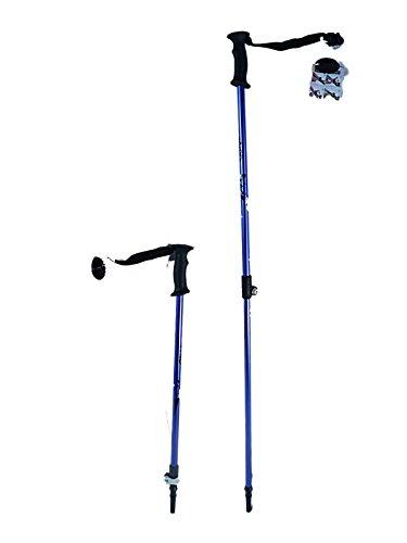Ski poles Speedlock alpine/downhill Kids Junior size adjustable telescopic ski poles pair with baskets