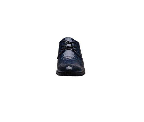 Blue Morbido Casual Tela Punta Scarpe in Tondo Uomo Pelle Sportivi Sandali Stivali A Colore Stagione Affari Nastro Ywa1Yq
