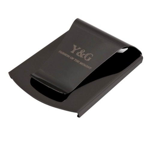 black double-sided money clip gift ideas man stainless streel Money Clip By Y&G MC1038  Black (Luggage Money Clip)