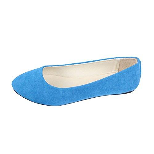 Bleu Danse Ciel couleur Chaussures Ballet Taill D'été Plates Loisirs Été De Femme Grande Sandales Multi 8H68AnO4