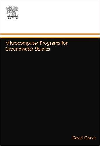 Microcomputer Programs for Groundwater Studies