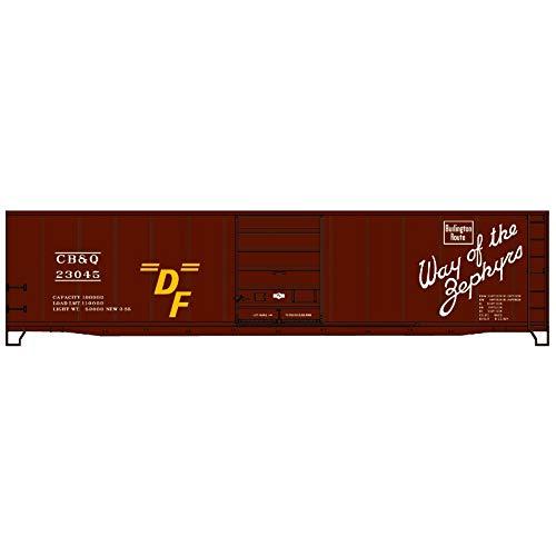 - Accurail 5507 - Chicago Burlington & Quincy Superior Door Steel 50' Box Car - HO Scale Kit