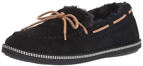(Skechers Women's Cozy Campfire-Moc-Toe Faux Fur Lined Slipper, Black, 8.5 M US)