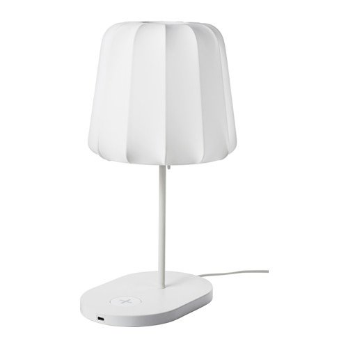Ikea 602 806 39 Arstid Table Lamp Nickel Plated White