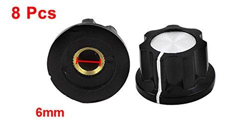 Plástico Control De Volumen Perillas De Potenciómetro Tapones 6mm Diámetro Del Eje 8 Unidades: Amazon.es: Bricolaje y herramientas