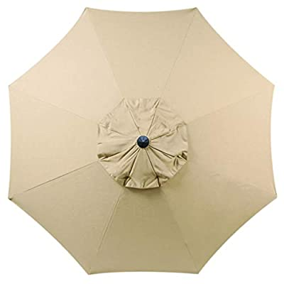 "Bayside-21 Sunbrella Fabric Umbrella Canopy Replacement 8 Ribs 9 ft Outdoor Patio Umbrella Sunbrella Spectrum Sand (Replacement Canopy Only, Sunbrella Sand) - Universal Canopy Fits 9ft 8 Ribs Patio Umbrellas (Including Aluminum, Wooden and Fiberglass) Fits Umbrella that have Ribs length from 52"" to 54"" 100% Sunbrella Fabric Long lasting, easy to clean and 98% UV protection 5 year Fabric Color Fastness Warranty - shades-parasols, patio-furniture, patio - 31vI4FDQVCL. SS400  -"