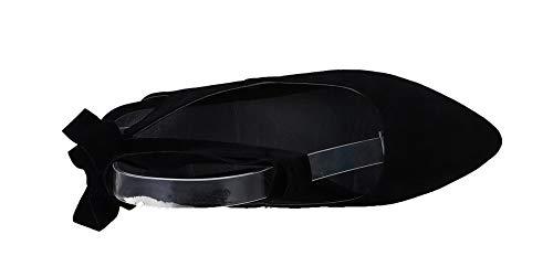 GMBLB014617 d'orteil Noir à Femme Fermeture AgooLar Unie Couleur Lacet Bas Sandales Talon qvU0wSC0