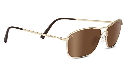 Serengeti Corleone Polarized Driver Sunglasses, Satin Soft Gold