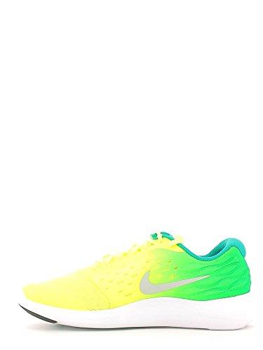 Zapatillas Para Correr Nike Lunarstelos (gs) Verde-amarillo
