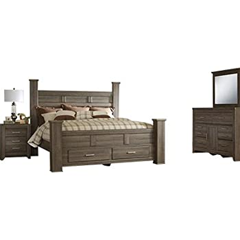 Signature Design By Ashley Juararo Bedroom Set With King Bed Nightstand Dresser