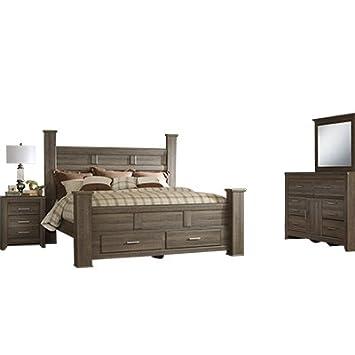 Amazoncom Signature Design By Ashley Juararo Bedroom Set With King