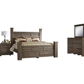 Amazon Com Signature Design By Ashley Juararo Bedroom Set With Queen Bed Nightstand Dresser